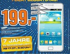 Samsung Galaxy S2 Plus mit NFC im Saturn Schweinfurt für 199 Euro