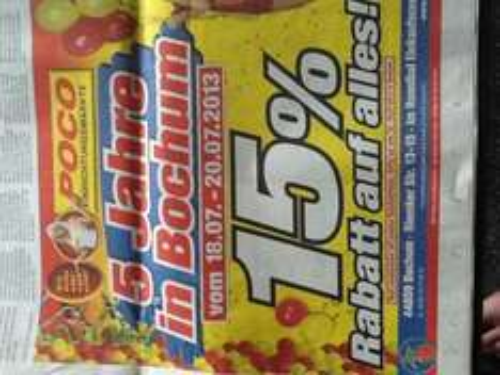 [Lokal Bochum] Poco feiert den 5ten Geburtstag 15% Rabatt