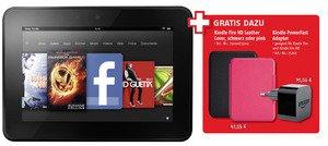 Kindle Fire HD 16 GB + kostenloses Leather Cover und PowerFast Adapter für 169€ bei Medimax!!!