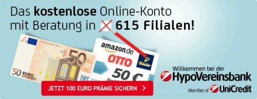 HypoVereinsbank (HVB) via GMX: 50 Euro cash + 50 Euro Gutschein