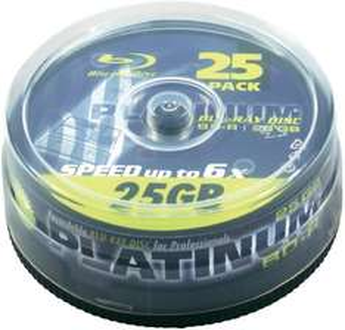 100 x Platinum Blu-ray Rohling 25GB 6x