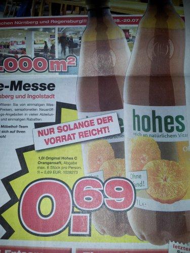 1.0 Liter Original Hohes C Orangensaft im Möbelhof Parsberg und Ingolstadt für 69 Cent