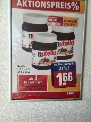 Nutella - Ab 3 Gläser - 27% gespart