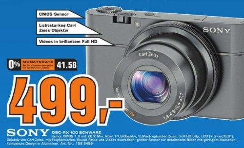Sony DSC-RX100 für 499€ @Saturn Stuttgart