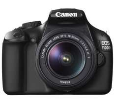 Canon EOS 1100D SLR-Digitalkamera (12 Megapixel, 6,9 cm (2,7 Zoll) Display, HD-Ready