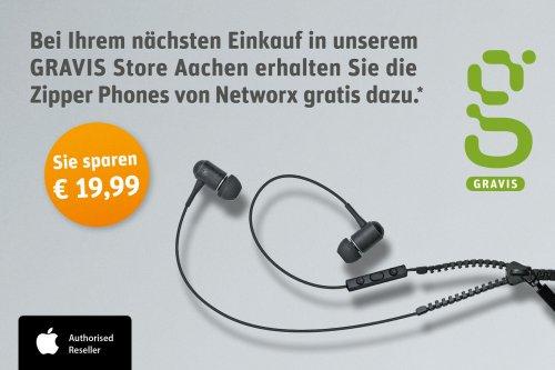 [Gravis Aachen]  In-Ear Kopfhöhrer bei beliebiegem Einkauf gratis dazu.