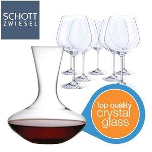 Schott Zwiesel 8 Rotwein Gläser und ein Dekanter für 24,95€ + 5,95€ Versand @iBOOD