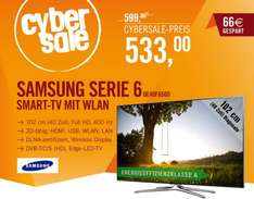 "Cybersale - Samsung SMART TV Serie 6 - 40"", Full HD, 400 Hz, 3D, DVB- T/C/S, Edge LED-TV - Nur 533, -EUR"