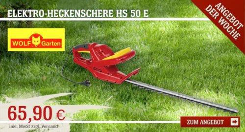Wolf Garten Elektro-Heckenschere HS 50 E für nur 65,90€