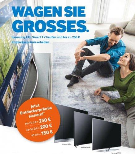 "Samsung Smart-TV-Cashback ab 40"""