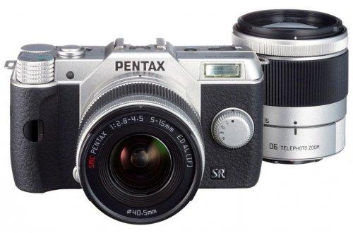 [Amazon.fr] Pentax Q10 silber Doppelkit mit 5-15mm/f2.8-4.5 + 15-45mm/f2.8