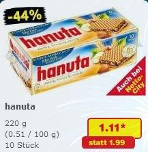 Hanuta 10er Pack für 1,11€ [Samstags Kracher @ Netto-Marken-Discount]