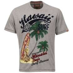 Tokyo Laundry Men's Hawai T-Shirt - Light Grey Marl für 8,81€ @Zavvi