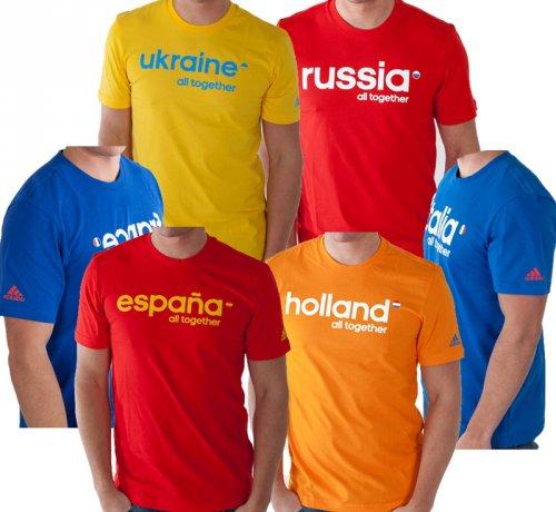 Adidas Fan Shirt (Holland, Italien, Frankreich, Spanien, Russland, Ukraine) für 5,99€ + 3,95 VSK.