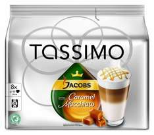 [AMAZON] 10 x Tassimo Caramel Macchiato für 33,52€ (3,35€ pro. Packung-> über 30% günstiger) mit 5€ Gutschein