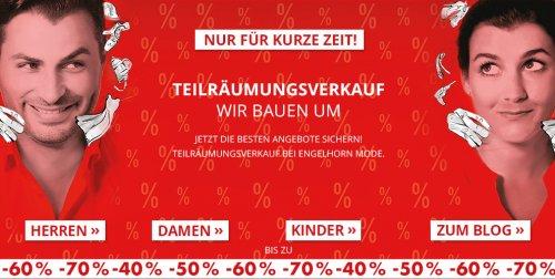 Engelhorn Teilräumungsverkauf wegen Umbau (bis zu 70%)