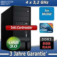 PC System Intel i5-3470/8GB/Office-Workstation