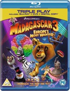 (UK) Madagascar 3: Flucht durch Europa Triple Play (+ DVD) [Blu-ray] für 11.49€ @Zavvi