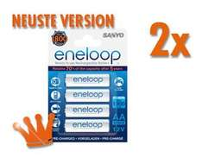 8x Sanyo Eneloop AA (2000mAh, neueste Version) für 13,49€ bei meinpaket.de