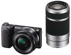 Sony Alpha NEX-5R Kit 16-50 mm + 55-210 mm (NEX5RYB) für 701,50 € @Amazon.fr