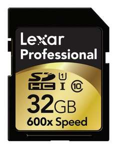 Lexar SDHC Professional 32GB Class 10 UHS-I 600x für 45,70 € @Amazon.fr
