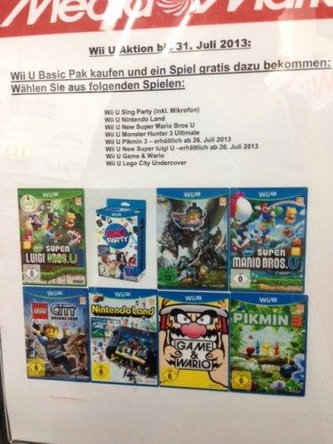 [Lokal Berlin] Wii U Basic für 199 € + Spiel (Mario o. Pikmin, Game & Watio, Lego) gratis dazu