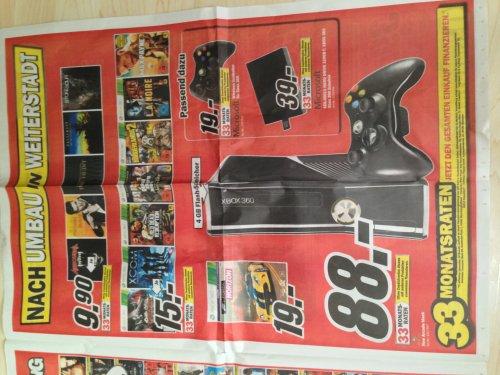 XBox 360 Arcade Slim 4GB & Zubehör @ MM-Weiterstadt