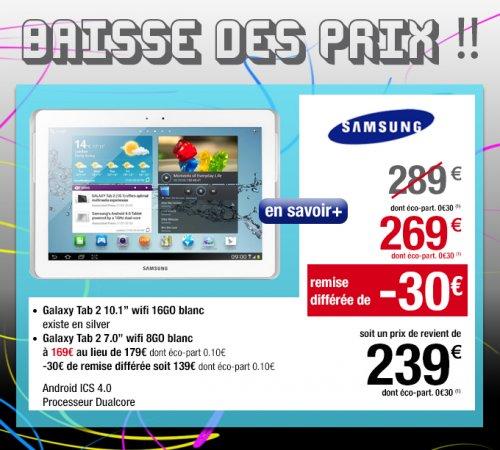 """Galaxy Tab 2 10""""   239,- € im CORA Frankreich"""