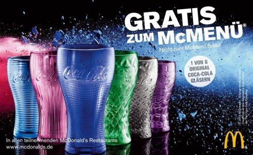 [Deutschlandweit] Coca-Cola Glas Gratis zu jedem McMenü bei McDonalds