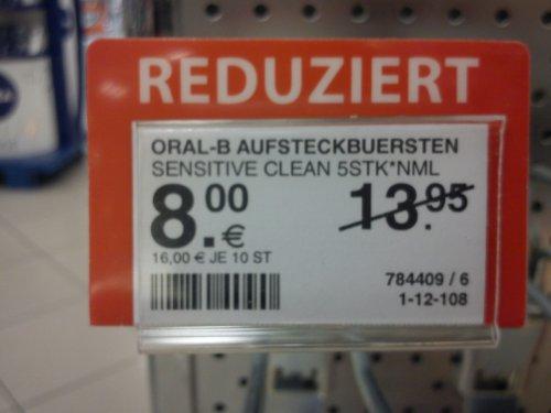 Oral-B Austeckbürsten (evtl. lokal)