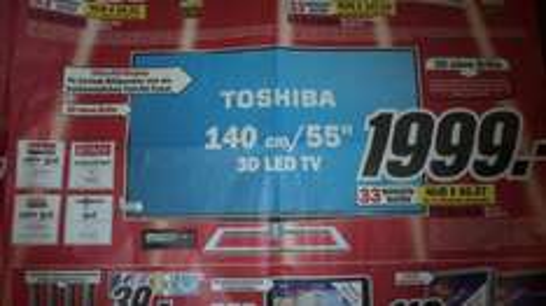 """Toshiba 55ZL2,140cm/ 55"""" 3D LED TV (3D ohne Brille), mind. 1000 € Ersparnis, Lokal Heilbronn Media Markt"""