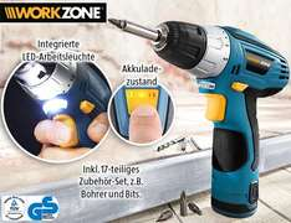 WORKZONE®  Akku-Bohrschrauber