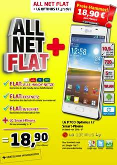 LG Optimus L7 günstig mit ALL NET FLAT