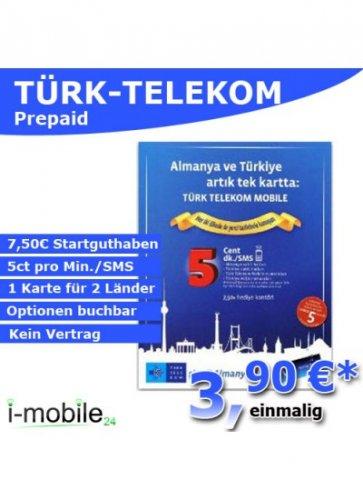 Türk-Telekom Prepaid Karte inkl. 7,50€ Startguthaben
