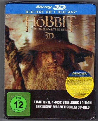 Der Hobbit -  Eine unerwartete Reise 3D - 4 DISC Steelbook Edition Blu-Ray - 26,80€ @eBay