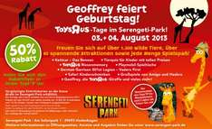 Serengeti Park 50 % am 03.+ 04.August