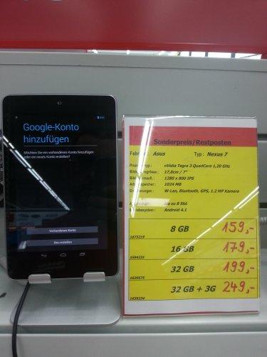 Nexus 7 ab 159€ @ MM Bischofsheim (Lokal?)