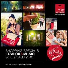 SHOPPING SPECIALS in Metzingen bis zu 70 % Rabatt 26.-27.07.2013