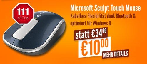 [Lokal Düsseldorf] Notebooksbilliger.de am 27.07 ab 11:11 Samsung Microsoft Sculpt Touch Mouse für 10,- (nur 111 Stück)