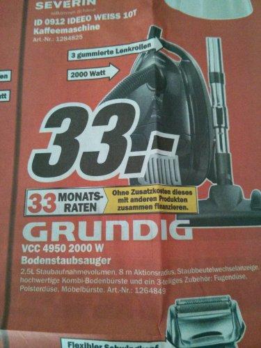 Grundig Bodyguard VCC 4950 Bodenstaubsauger  MM Weiterstadt   idealo 58,88!!