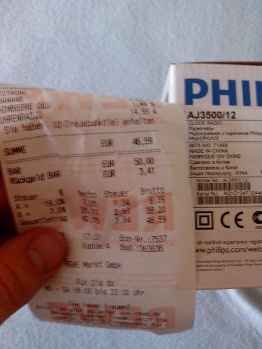 Philips AJ3500 Uhrenradio