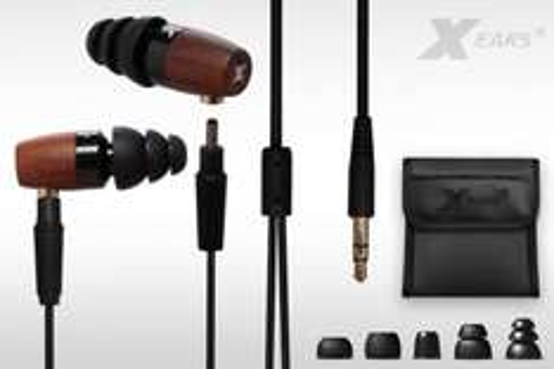 Xears® Wood Force XWF600 Highend In Ear Kopfhörer mit wechselbaren Kabel
