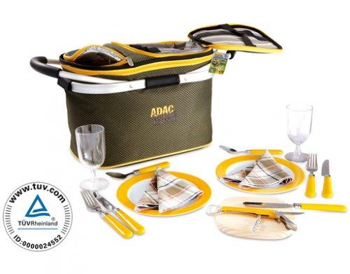 ADAC™ - 2 Personen Picknick Korb (17 Teile) für €16,95 [@MeinPaket.de]