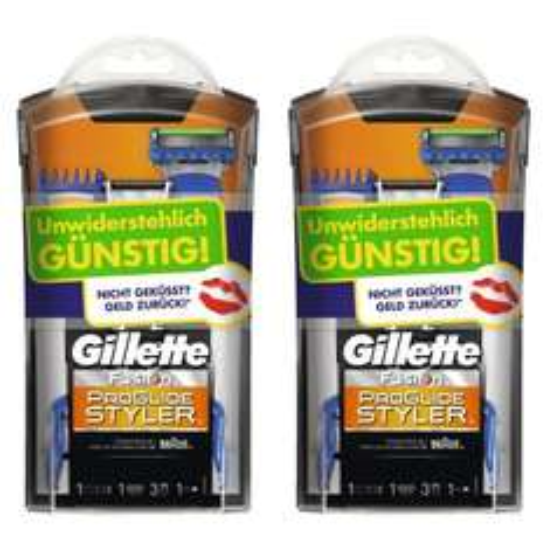 [Amazon] Gillette Fusion ProGlide Styler 2er Pack (Limited Edition - Testwochen)
