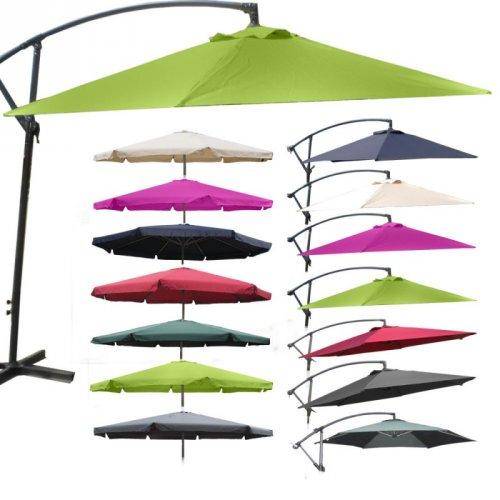 Sonnenschirm 4m in tollen Farben, Ampelschirm, ab 46,99 EUR Versandkostenfrei!
