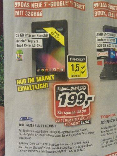 Nexus 7 32GB im Promarkt Dortmund–Aplerbeck für 199€