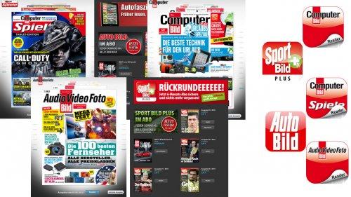 Computer Bild, Computer Bild Spiele, Audio Video Foto Bild, Auto Bild und Sport Bild+ Digitale Magazine Kostenlos für Tablet