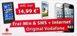 Vodafone Basic 100 Spezial 14,99€ GG + Top-Smartphones z.B. Samsung S3 - nur 0,--