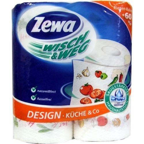 Zewa Wisch & Weg Küchentücher 1Pack(2 Rollen á 72 Blatt) für 1,29 € bei 16 Packungen(32 Rollen) 20,64€ bei Allyouneed versandkostenfrei