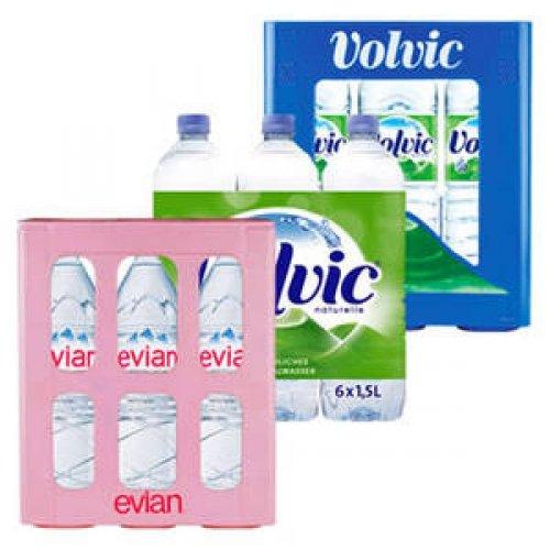 6 x 1,5L Volvic (naturelle / leichtperlig) oder Evian für 3,99€ (+ Pfand) @real